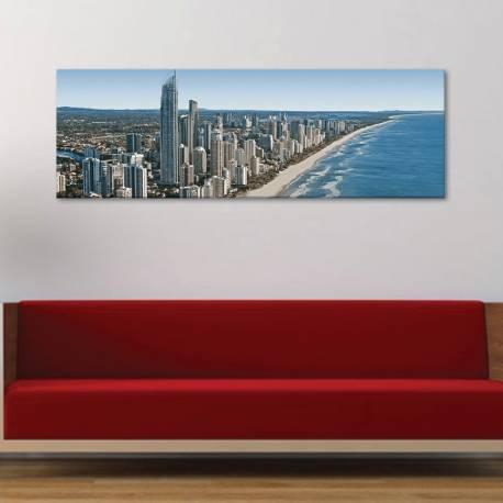 Coast city - felhõkarcolók - vászonkép - 1