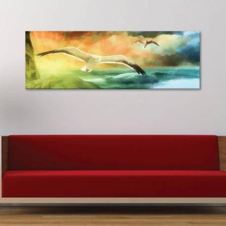 Painted seagulls - sirályok festmény - vászonkép