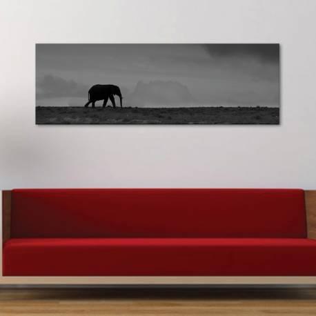 Walk alone - elefánt - vászonkép - 1