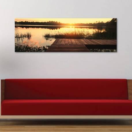 One silent afternoon sunset - naplemente vászonkép - 1