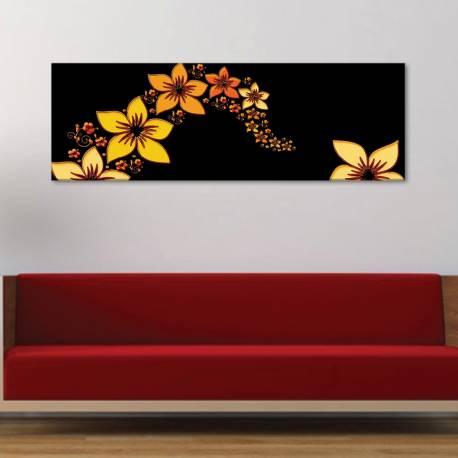 Flower stream - virágok - vászonkép