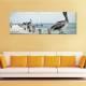 Hunting - Vadászó pelikánok vászonkép