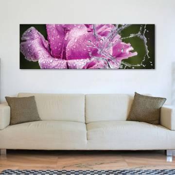 Water butterfly - Rózsa az esõben vászonkép