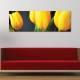 Yellow tulips - Sárga tulipánok vászonkép - 1