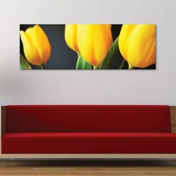 Yellow tulips - Sárga tulipánok vászonkép