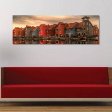 Colours houses - színes építészet vászonkép - 1