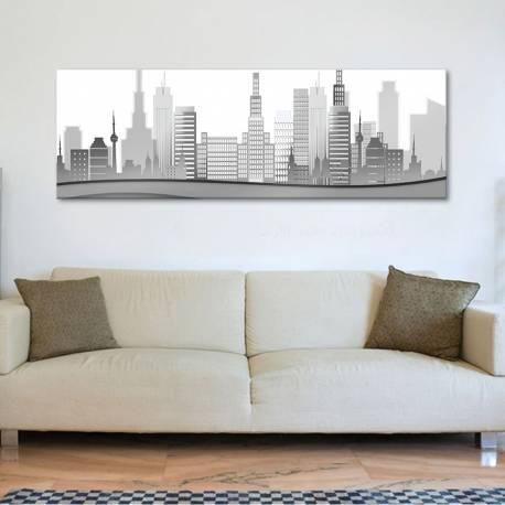 City in grey - Város szürkében vászonkép - 1