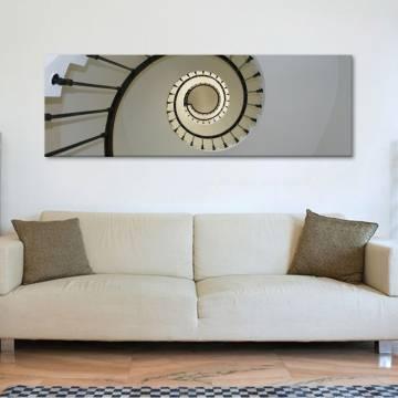 Spiral art - mûvészi csigalépcsõ vászonkép