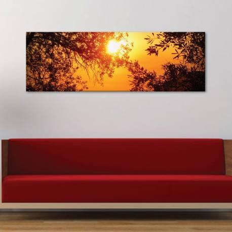 Sun and trees - Naplemente az erdõ fölött vászonkép - 1