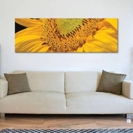 Macro sunflower - Napraforgó makró vászonkép