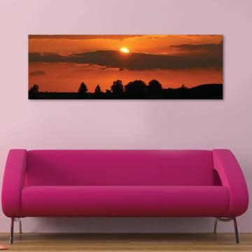 Hiding - bújócska naplemente vászonkép