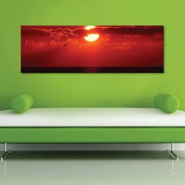 Sunset and clouds - naplemente és felhõk vászonkép