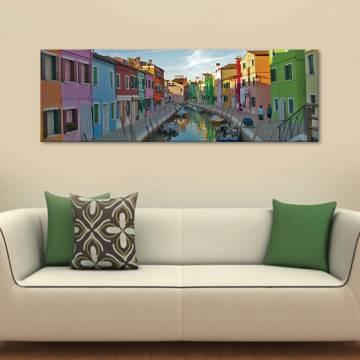 Burano Venice - Színes Burano vászonkép
