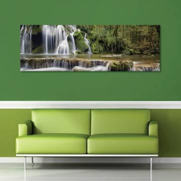 Forest waterfall - erdei vízesés vászonkép