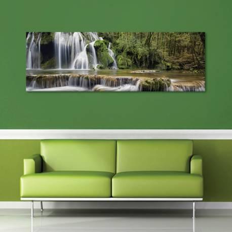 Forest waterfall - erdei vízesés vászonkép - 1