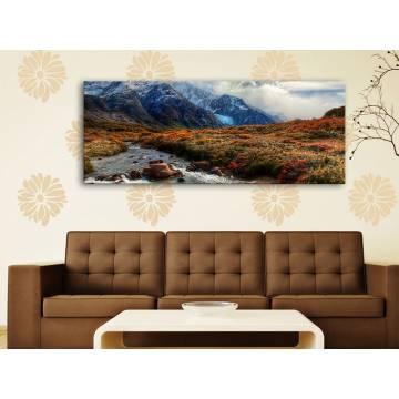 Mountain stream - hegyi patak tájkép vászonkép 100260