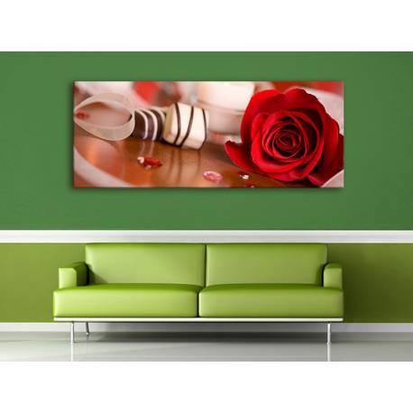 Simply beautyful red rose - vörös rózsa dísz vászonkép 100297