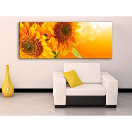 Yellow Sunflower - 3 részes vászonkép - sárga napraforgó 100321