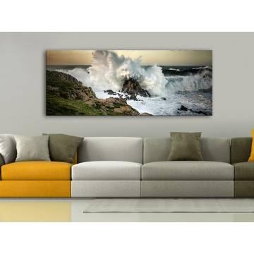 The power of water - hullámok a tengerparton vászonkép 100346