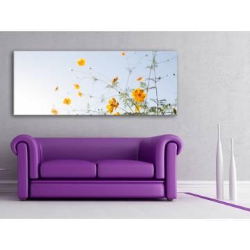 Clean and simply flower - sárga virágok - vászonkép 100357