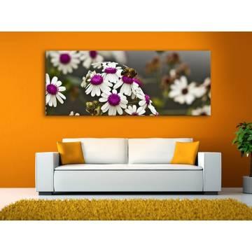 Working - virágmintás vászonkép 100363