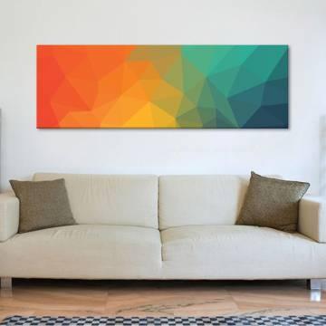 Abstract poligones - Absztrakt sokszögek - vászonkép