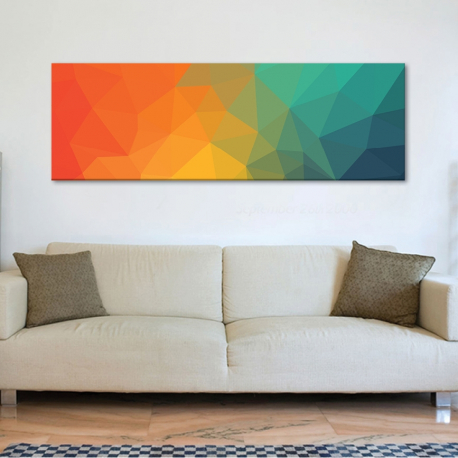 Abstract poligones - Absztrakt sokszögek - vászonkép - 1