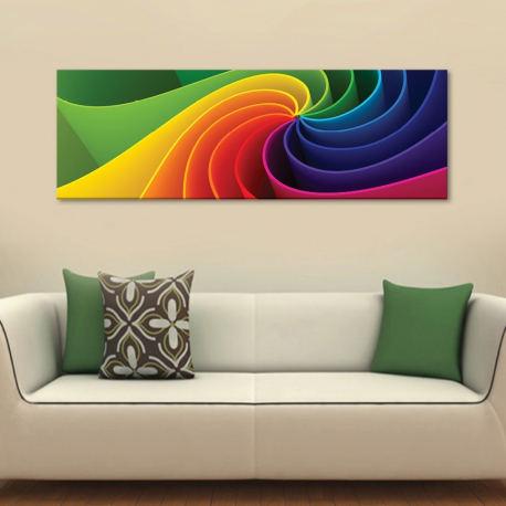 Color spiral 3D - Színes 3D spirál - vászonkép - 1