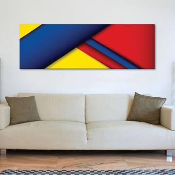 Colorful edges - Színes élek absztrakt - vászonkép