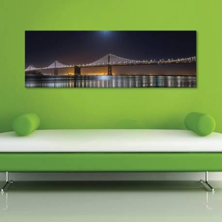 Night ligths bridge - kivilágított híd - vászonkép