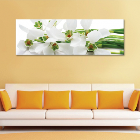 Snowdrops - hóvirágok - vászonkép - 1