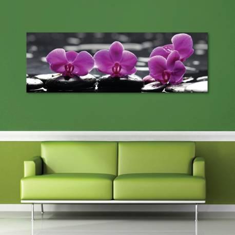 Orchids and stones - orchideák és jade kövek - vászonkép