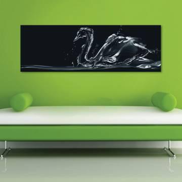 Water swan - absztrakt hattyú - vászonkép