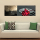Just romantic - romantikus vörös rózsa - vászonkép