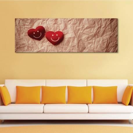 Lovely smiley - szmájlis szívek - vászonkép