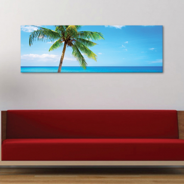 Palm alone - magányos pálma - vászonkép