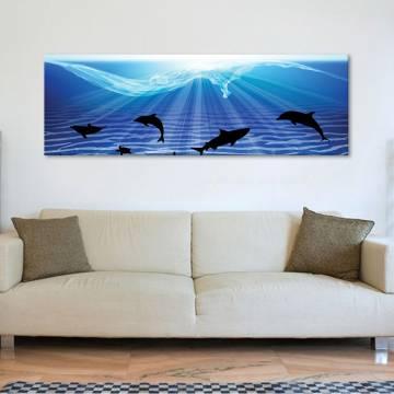 Illustrated sharks - cápák - illusztráció - vászonkép