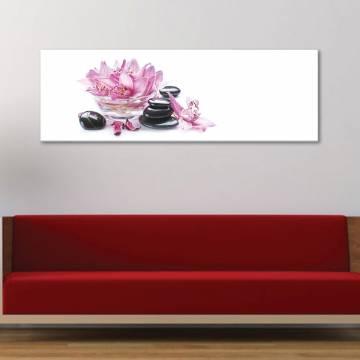 Clean and simply - egyszerû és tiszta - orchidea - vászonkép