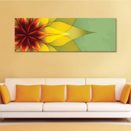 Abstract flower - absztrakt virágrajz - vászonkép