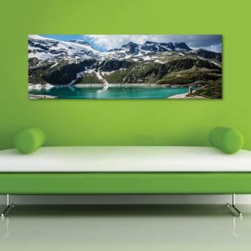 Mountain lake - hegyi tó - vászonkép