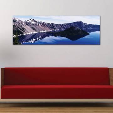 Crystal clear - hegyi tó - vászonkép