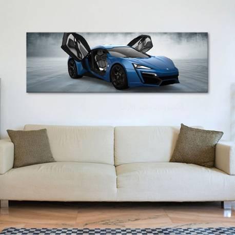 The blue concept - sportautó - vászonkép