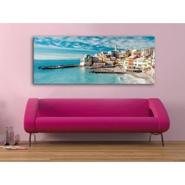 Coastal town - város a tengerparton vászonkép 100419