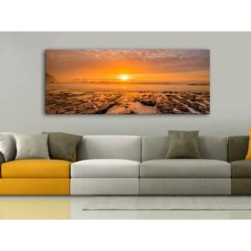 Burning Sunset - naplemente vakrámás vászonkép