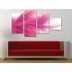 Pink Feather - tollpihe - 4 részes vászonkép
