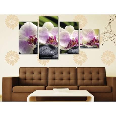 Calm & orchids - Békés orhideák - 4 részes vászonkép