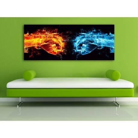 Fire vs. Water - tűz a víz ellen - vászonkép 100440