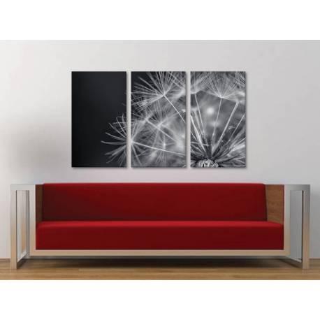 Három részes vászonkép - Magic dandelion - varázslatos pitypang vakrámára feszített vászonkép no.3a-100180 - 1