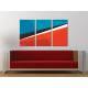 Három részes vászonkép - Colours & Lines - színes formák - no. 3a-100160 - 1