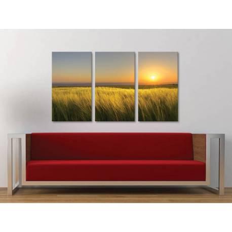 Három részes vászonkép - Peace and silence sunrise - nyugodt napkelte 3a-100177 - 1